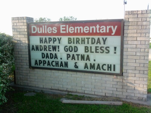 appachan and amachi on the marquee